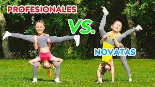 ¡DESAFÍO DE ACROBACIAS IMPOSIBLES! PROFESIONALES vs. NOVATAS || Trucos de gimnasia