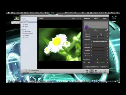 How to Crop a Photo and or Edit it Using iPhoto Mac