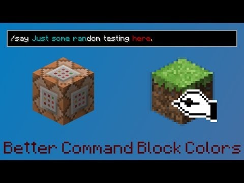 Better Command Block Color Filter - Fixed /say Command