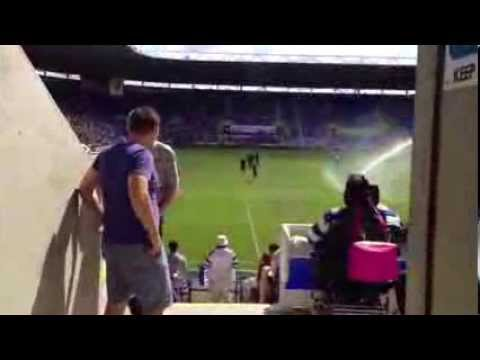 Entering the Madejski Stadium, home of Reading FC from the