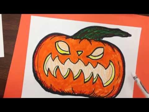 How to Draw a Wicked Halloween Jack o Lantern