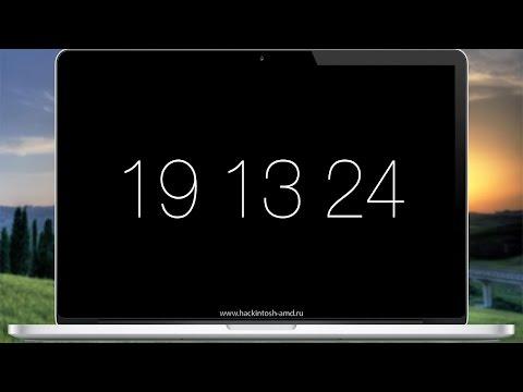 Скринсейвер часы для Mac OS X  - Padbury Clock Screensaver