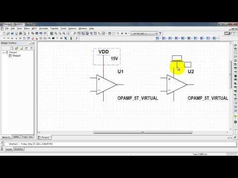 NI Multisim: VDD and VSS power supply voltages