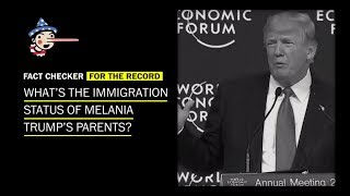 What's the immigration status of Melania Trump's parents?