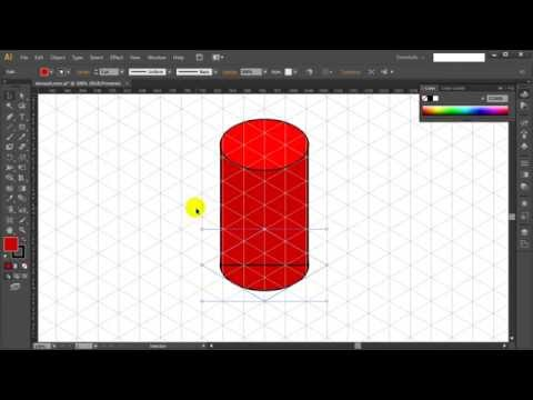 How to draw ISOMETRIC CYLINDER & PIPE in Adobe Illustrator - Tutorial #7