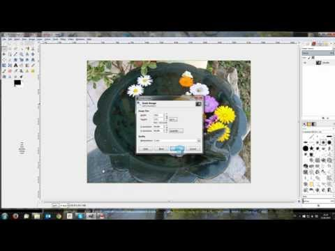 Sharp web resolution images with Gimp 2.8