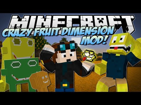 Minecraft | CRAZY FRUITS DIMENSION MOD! (Beware the Lemonator King!) | Mod Showcase