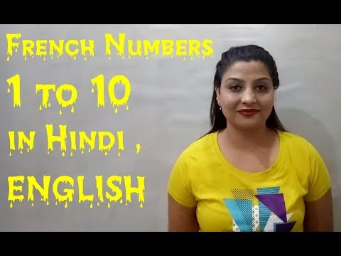 Nova French Campus Amritsar  French numbers 1 to 10. French institutes in Punjab