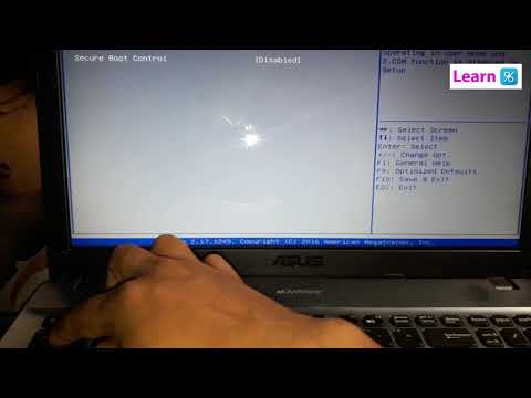 Asus X541S Bios Boot from Usb / Disk Drive. Bangla