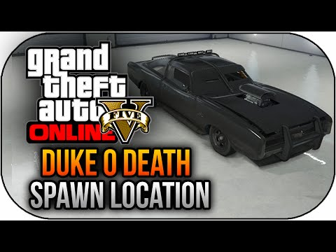 GTA 5 PS4 Gameplay RARE Duke O'Death Spawn Location GTA 5 Rare Car (GTA 5 PS4 Next Gen)