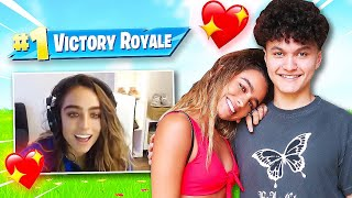 I Carried my Dream Girl to a WIN on Fortnite (Sommer Ray & FaZe Jarvis)