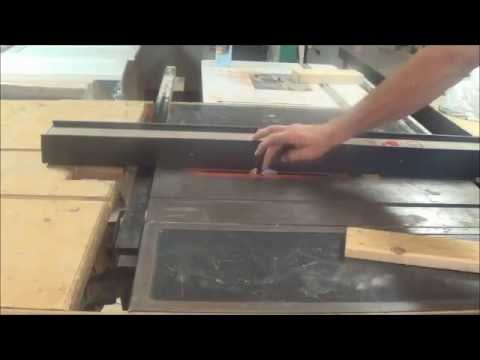 Using a tablesaw as a biscuit joiner