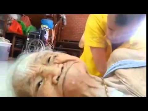 Handicapped son takes care of elderly mother