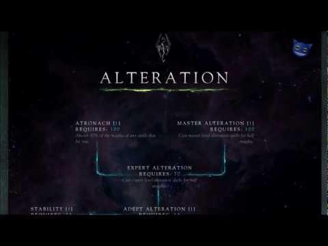 Skyrim Skills - Alteration Skill Tree