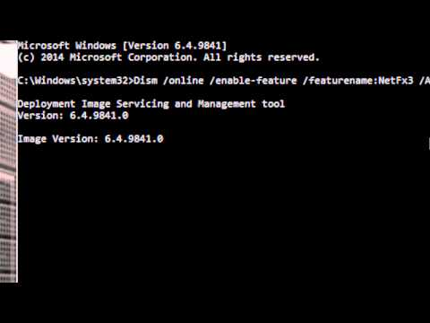 Installing dot NET on Windows 10 from command line