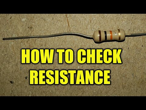 how to check resistance with digital multemeter