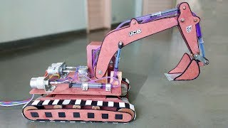 How to Make a Remote Control Hydraulic Excavator / JCB at Home