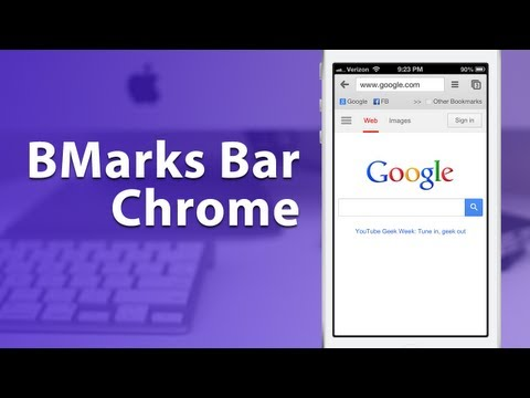 [Cydia Tweak] BMarks Bar - Chrome: Add A Bookmarks Bar To Chrome For iOS