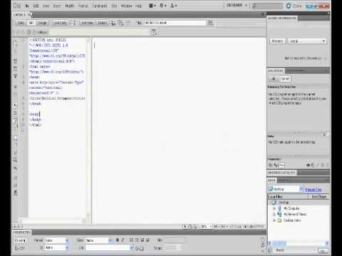 how to use html template on dreamweaver CS5