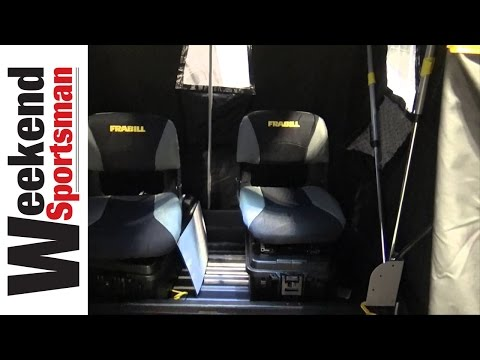 Frabill Aegis Series Portable Ice Fishing Flip Over Shelter | Weekend Sportsman | #Frabill_Inc