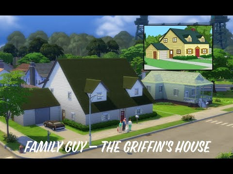 The Griffin's House from Family Guy  Sims 4 Speed Build TV Show Build Challenge