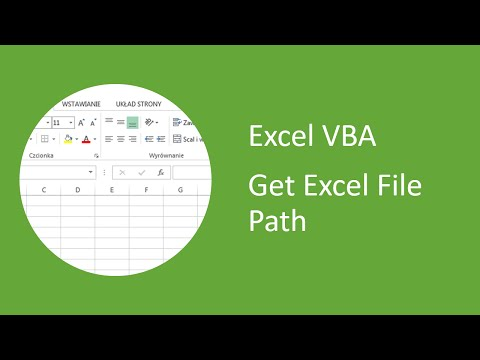 Excel VBA - How to Get Excel File Path