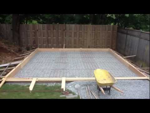 Garage Pt 8 - Pouring the floor