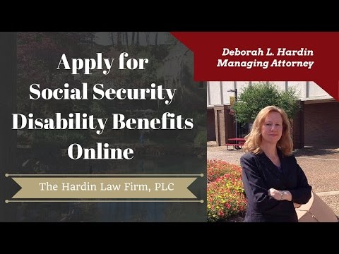 How to Apply for Social Security Disability Benefits online.