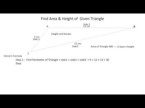 Area & height of Scalene Triangle
