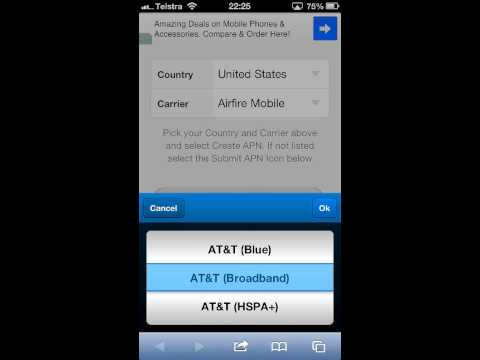 How to install AT&T APN on iPhone or iPad