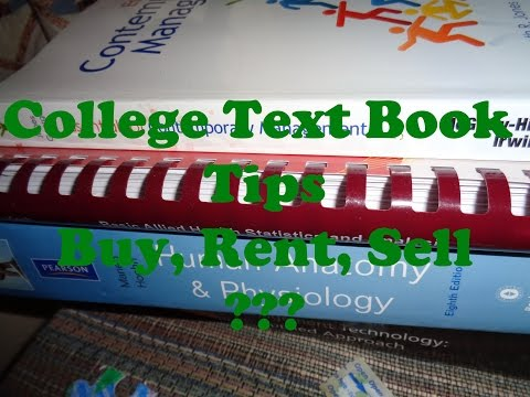 College Textbook Tips: Buy, Rent, Sell???