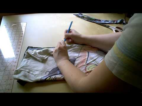 How To Sew - Resize a T-shirt Tutorial - DIY Fashion