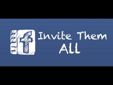 invitation like facebook page  كيفية دعوة جميع الأصدقاء للإعجاب بصفحك على الفيس بوك بضغطة واحدة
