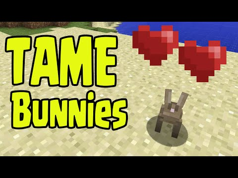 Minecraft PS3, PS4, Xbox, Wii U - TAME BREED BUNNY RABBITS! (TU31 / 1.8 Update)