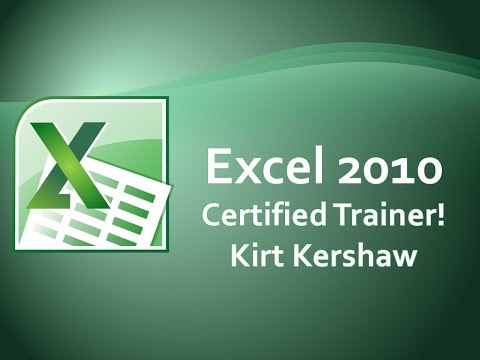 Excel 2010: Changing Columns And Rows Height And Width
