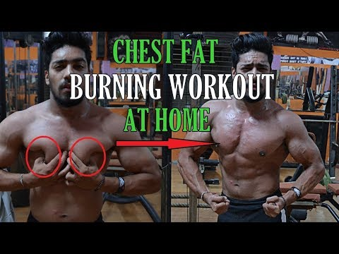 CHEST FAT BURNING WORKOUT AT HOME - NO EQUIPMENT | How To Lose Chest Fat At HOME Fast