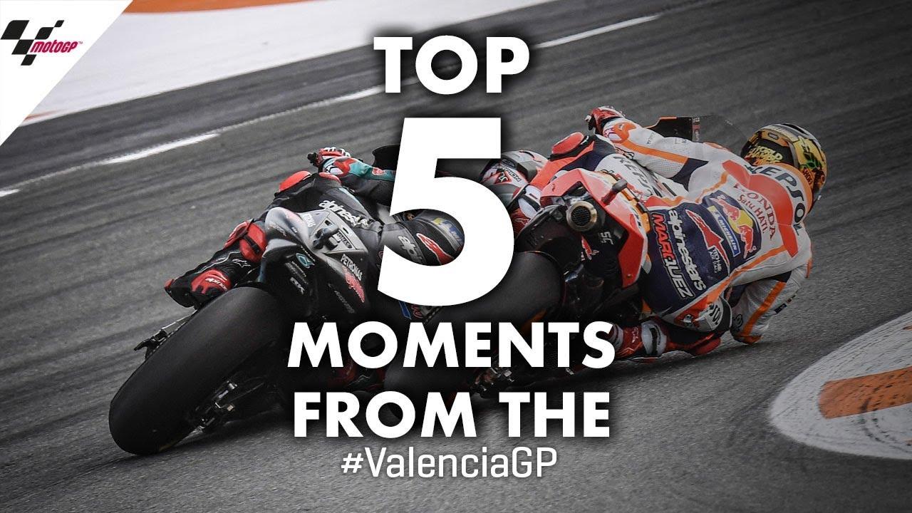 2019 #ValenciaGP Top 5 Moments