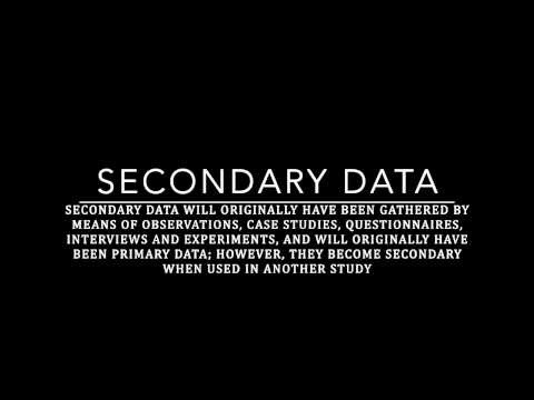 Clinical Methodology   Primary and Secondary Data