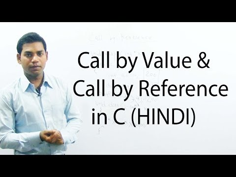 Call by Value and Call by Reference in C (HINDI)