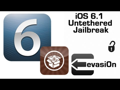 Evasi0n Jailbreak 6.1 Untethered iPhone 5,4s,4,3Gs,iPod 5,4,3 iPad 4,3 iPad Mini