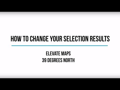 How to Change your Selection Results