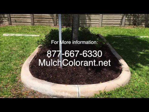 How To Paint or Dye Mulch