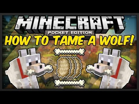 [0.9.0] Minecraft Pocket Edition: How To Tame Wolves! [Beta]
