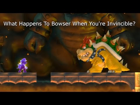 What Happens To Bowser When You're Invincible? (New Super Mario Bros Wii)