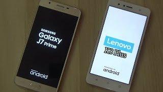 Lenovo K8 plus Vs Samsung Galaxy j7 Prime Comparision !! Speed Comparision !! HINDI