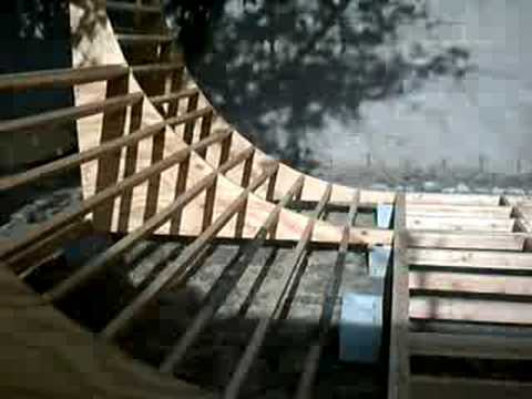 skateboard halfpipe ramp construction august 2008