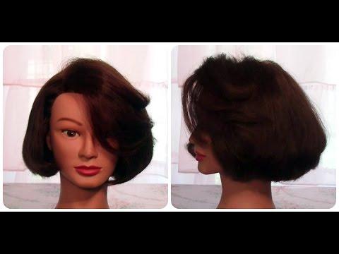 How to: Cut hair so it CURLS under with no heat, Cut classic bob undercut layering hair tutorial