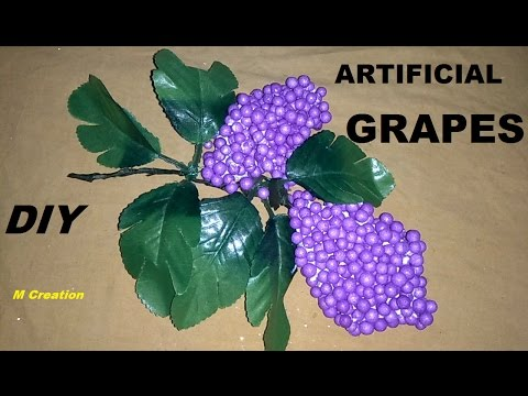 How to make ARTIFICIAL BUNCH OF GRAPES