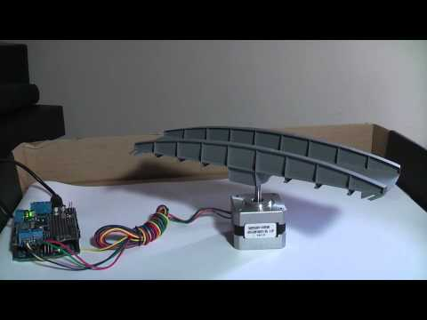 Using a microcontroller and stepper motor to rotate a model railway turntable.