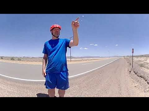 Biking Across The Mojave Desert Route 66 (360 video)